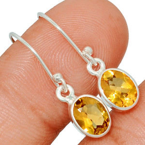 Citrine 925 Sterling Silver Earring  Jewelry CITE1560