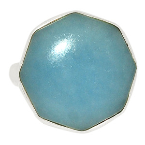Angelite 925 Sterling Silver Ring Jewelry s.7 ANGR282