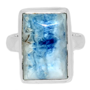 Blue Scheelite 925 Sterling Silver Ring Jewelry s.7 BSLR119