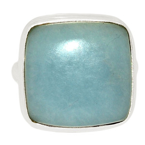 Angelite 925 Sterling Silver Ring Jewelry s.7.5 ANGR242