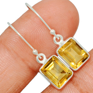 Citrine 925 Sterling Silver Earring  Jewelry CITE1557