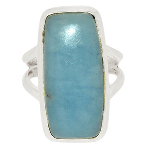 Angelite 925 Sterling Silver Ring Jewelry s.6 ANGR260