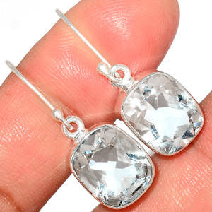 Crystal 925 Sterling Silver Earrings Stud Jewelry CRYE516
