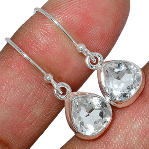 Crystal 925 Sterling Silver Earrings Stud Jewelry CRYE510