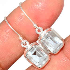 Crystal 925 Sterling Silver Earrings Stud Jewelry CRYE524