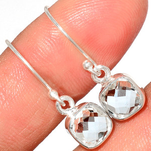 Crystal 925 Sterling Silver Earrings Stud Jewelry CRYE520