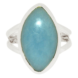 Angelite 925 Sterling Silver Ring Jewelry s.10 ANGR276