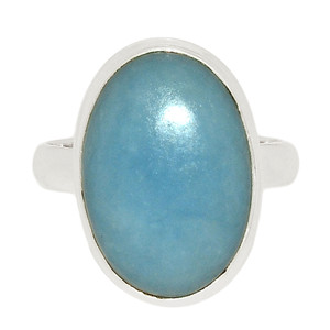 Angelite 925 Sterling Silver Ring Jewelry s.10 ANGR256