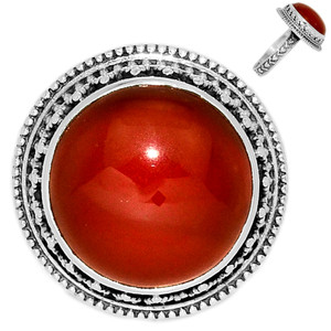 Carnelian 925 Sterling Silver Ring Jewelry s.7 CRNR1221
