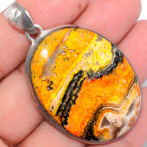 18g Indonesian Bumble Bee 925 Sterling Silver Pendant  Jewelry ECPP1175