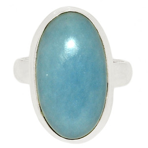 Angelite 925 Sterling Silver Ring Jewelry s.6 ANGR246