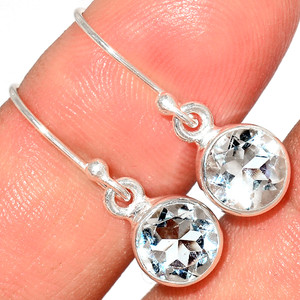 Crystal 925 Sterling Silver Earrings Stud Jewelry CRYE517