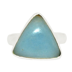 Angelite 925 Sterling Silver Ring Jewelry s.6.5 ANGR269