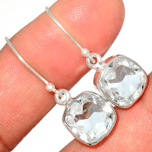 Crystal 925 Sterling Silver Earrings Stud Jewelry CRYE511