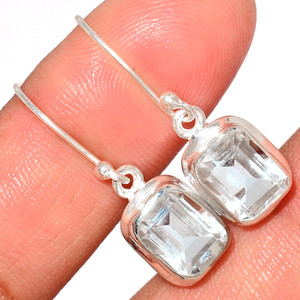 Crystal 925 Sterling Silver Earrings Stud Jewelry CRYE519