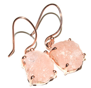 14k gold plated Morganite Rough 925 Sterling Silver Earrings Jewelry JB16793