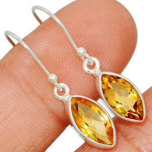 Citrine 925 Sterling Silver Earring  Jewelry CITE1558