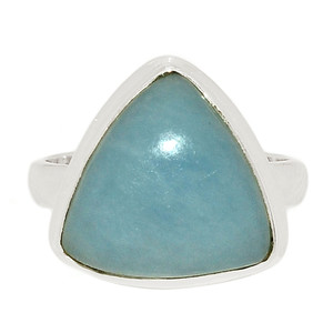 Angelite 925 Sterling Silver Ring Jewelry s.7.5 ANGR258