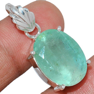 Faceted Aquamarine 925 Sterling Silver Pendant  Jewelry AQFP1136