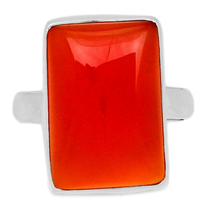 Carnelian 925 Sterling Silver Ring Jewelry s.8 CRNR1211