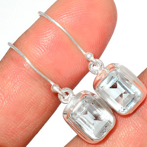 Crystal 925 Sterling Silver Earrings Stud Jewelry CRYE512