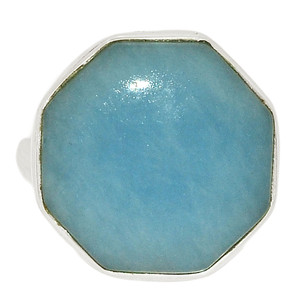 Angelite 925 Sterling Silver Ring Jewelry s.7 ANGR262