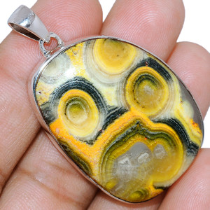 17g Indonesian Bumble Bee 925 Sterling Silver Pendant  Jewelry ECPP1167