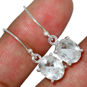Crystal 925 Sterling Silver Earrings Stud Jewelry CRYE499