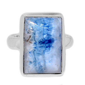 Blue Scheelite 925 Sterling Silver Ring Jewelry s.7 BSLR124