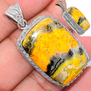 15g Indonesian Bumble Bee 925 Sterling Silver Pendant  Jewelry ECPP1178