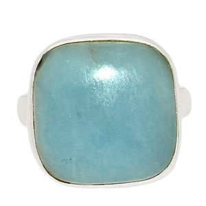 Angelite 925 Sterling Silver Ring Jewelry s.6 ANGR249
