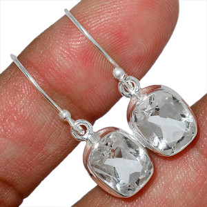 Crystal 925 Sterling Silver Earrings Stud Jewelry CRYE506