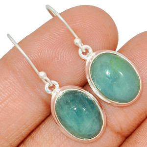 Aquamarine 925 Sterling Silver Earring  Jewelry AQME280