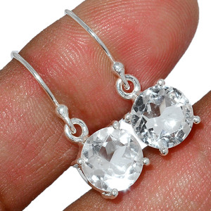 Crystal 925 Sterling Silver Earrings Stud Jewelry CRYE508