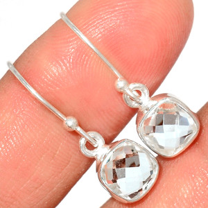 Crystal 925 Sterling Silver Earrings Stud Jewelry CRYE513