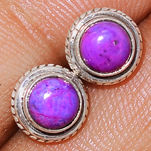Purple Mohave Turquoise 925 Sterling Silver Earrings Studs  Jewelry PMTS109