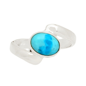 Blue Mohave Turquoise 925 Sterling Silver Ring Jewelry s.5 BMTR1095