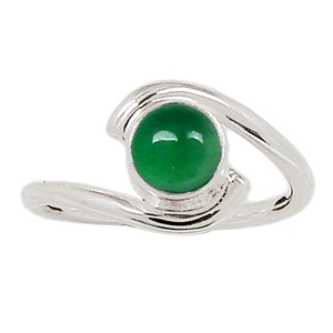 Green Onyx 925 Sterling Silver Ring Jewelry s.7 GROR643