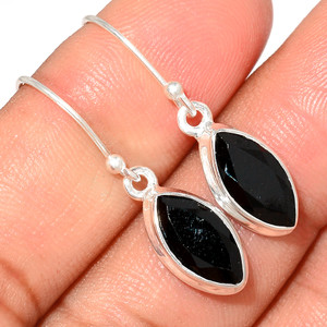 Faceted Black Onyx 925 Sterling Silver Earring  Jewelry BOFE571