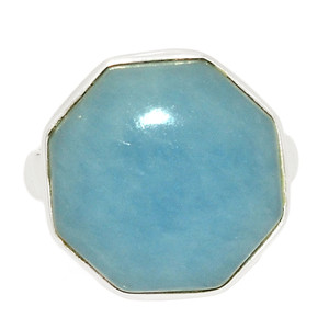 Angelite 925 Sterling Silver Ring Jewelry s.6.5 ANGR235