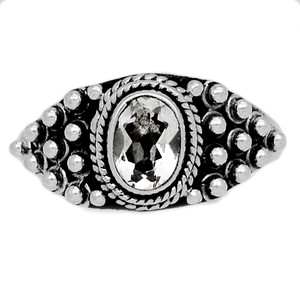 Crystal 925 Sterling Silver Ring Jewelry s.8 CRYR1521