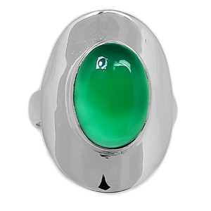 Green Onyx 925 Sterling Silver Ring Jewelry s.8.5 GROR583
