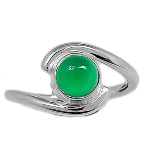 Green Onyx 925 Sterling Silver Ring Jewelry s.6 GROR603
