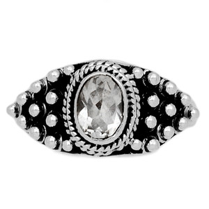 Crystal 925 Sterling Silver Ring Jewelry s.8 CRYR1507