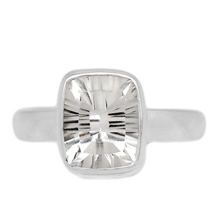 Crystal 925 Sterling Silver Ring Jewelry s.9 CRYR1552