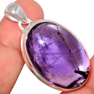 15g Amethyst 925 Sterling Silver Pendant  Jewelry AMCP1782