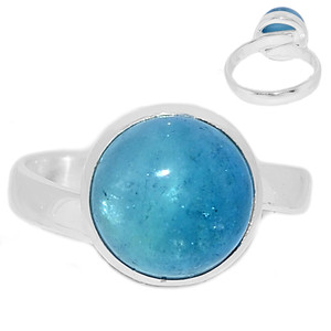 Adjustable Ring - Aquamarine 925 Sterling Silver Ring Jewelry s.8 AQMR961