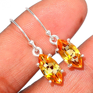 Citrine 925 Sterling Silver Earring  Jewelry CITE1581