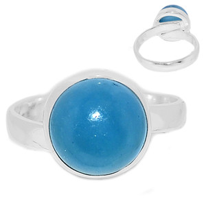 Adjustable Ring - Aquamarine 925 Sterling Silver Ring Jewelry s.8 AQMR970