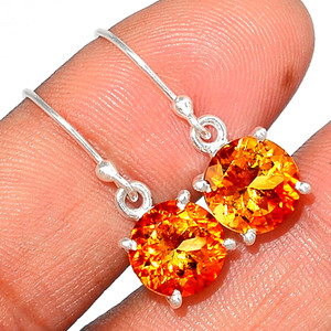 Citrine 925 Sterling Silver Earring  Jewelry CITE1584